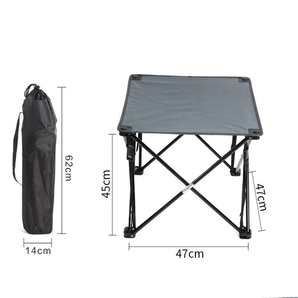 gris  RFVBNM Table pliante en plein air table de fer léger table portable pliante légère barbecue stalle camping