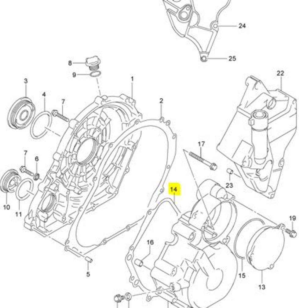 Amazon.com: Suzuki OEM Replacement Stator Generator Cover Gasket  11483-01H00 GSXR: Automotive   Gsxr 750 Engine Diagram      Amazon.com