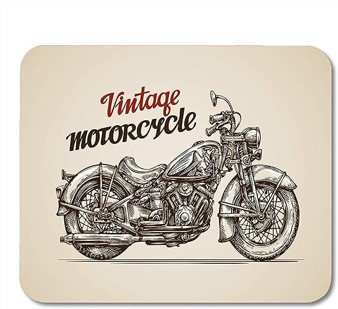 Alfombrillas de ratón Motor Bike Motocicleta Vintage Moto