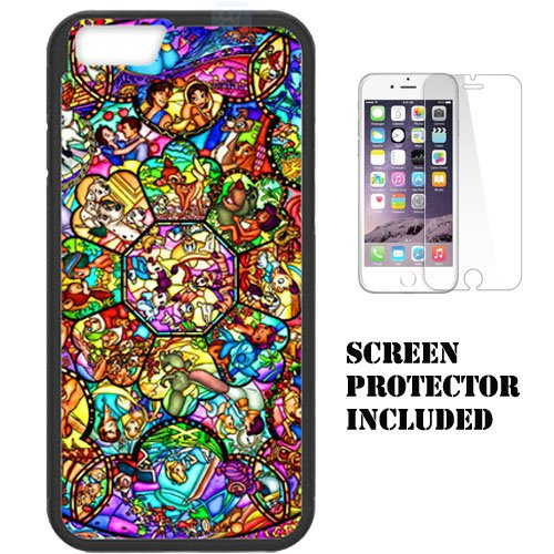 the best attitude 093e0 755a4 Disney's Mickey & Minnie, Little Mermaid, Snow White, Alice in Wonderland  Stained Glass, Disney Stained Glass for Apple iPhone 6/6s (4.7