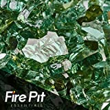 Emerald Green Reflective Fire Glass 1/4″ Firepit Glass Premium 10 Pounds Great for Fire Pit Fireglass or Fireplace Glass For Sale