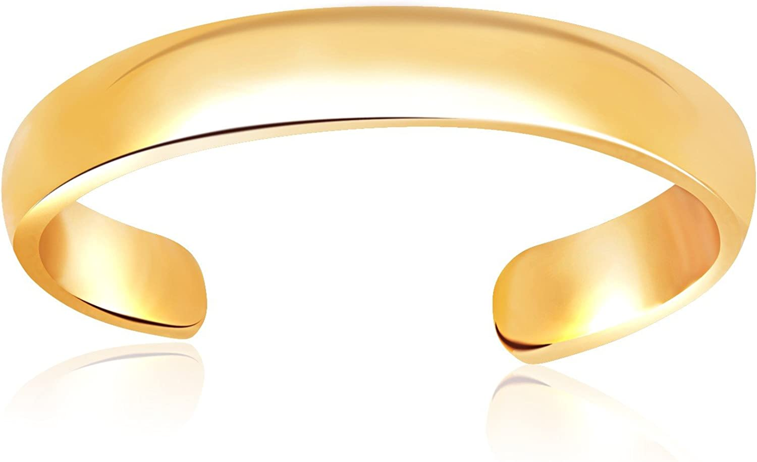 Jewels By Lux 14K Yellow Gold Toe Ring in a Polished and Simple Style