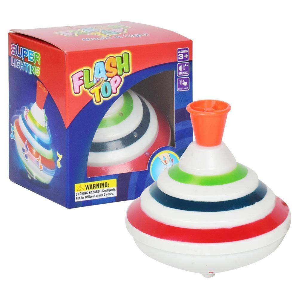 Kreisel Spielzeug mit Musik und Licht, Flash Top LED Kreisel Rotierendes Top, Kinderspielzeug, Weihnachtsgeschenke Purebesi123