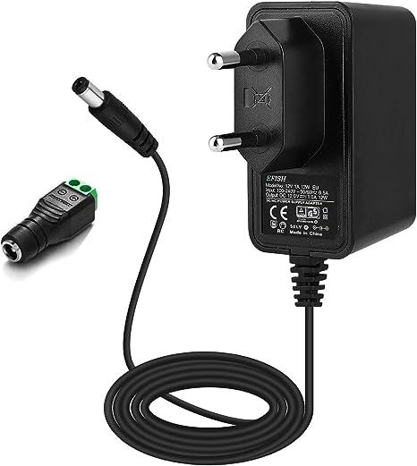 Interruttore Trasformatore Alimentatore Bianco Trasformatore LED 24 Watt 12v DC con Cavo di alimentazione