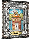 greatBIGcanvas Gallery-Wrapped Canvas entitled Home Sweet Home by Lisa Jane Smith 24''x30''
