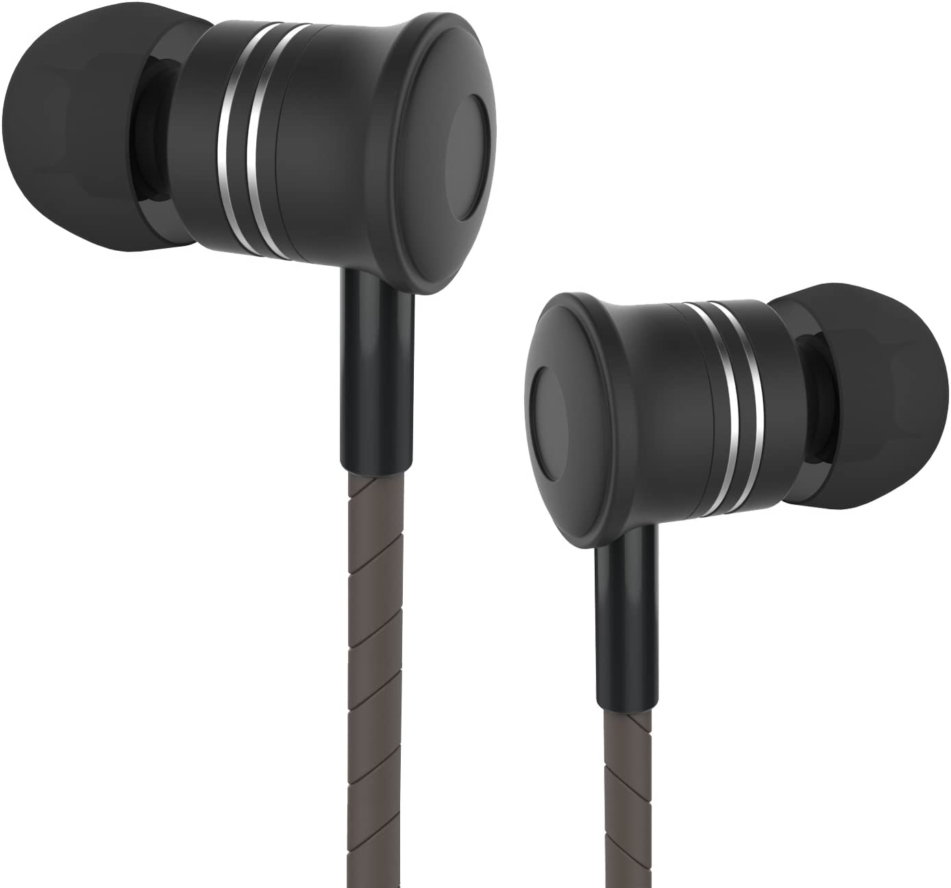 in Ear Headphones Earbud Moniko Corded Headsets with Microphone Stereo Wired Headphone Dynamic Crystal Clear Sound 3.5mm for iPhone Android iPod iPad Laptop Mac Tablet Black,Good