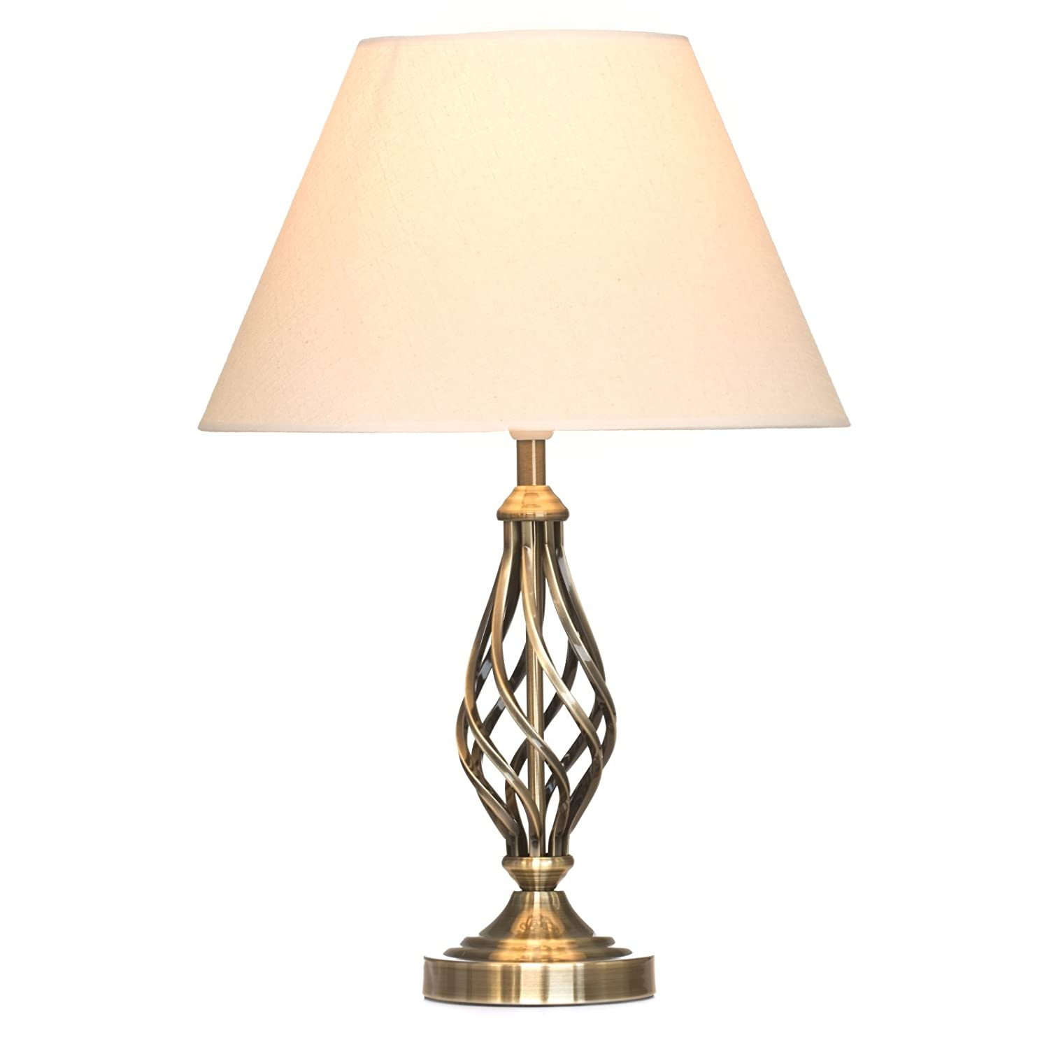 Kingswood barley twist traditional table lamp for Floor lamp with table