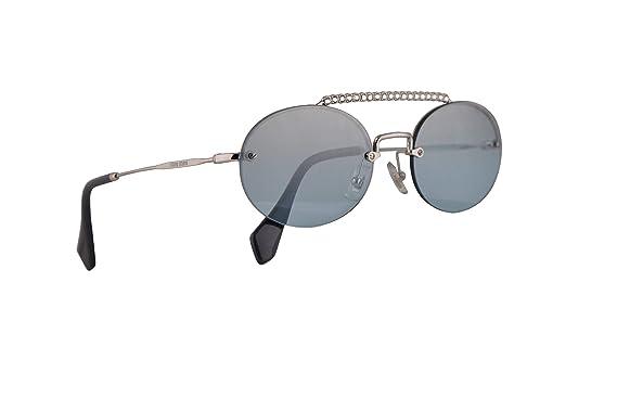 Amazon.com: Miu Miu MU60TS - Gafas de sol, color plateado ...