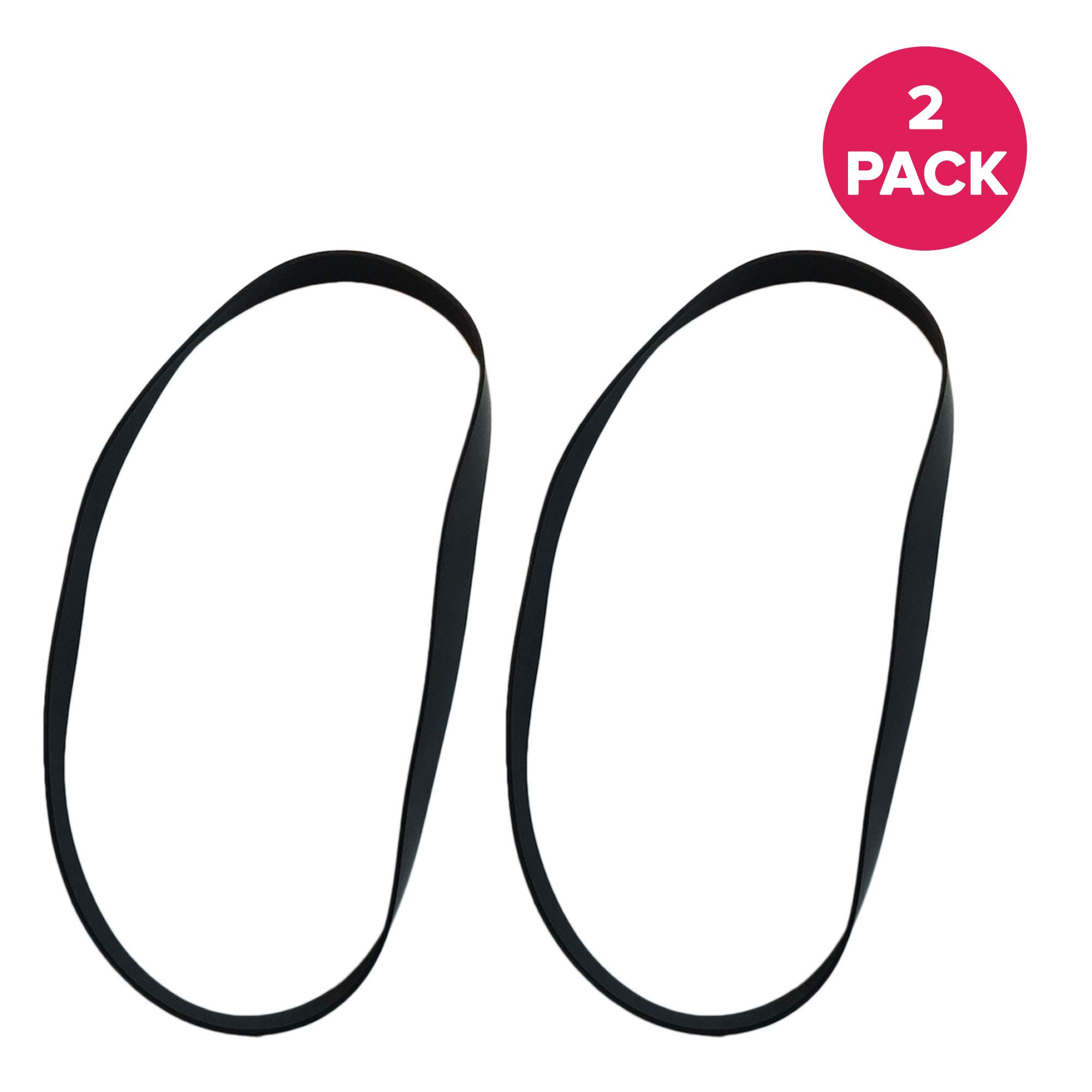 Crucial Vacuum Replacement Belt Parts - Compatible with Hoover Skinny Drive Part # 562289001, AH20065 - Fits Hoover T-Series Non-Stretch Belt Fits Rewind Upright - For Home, Office (2 Pack)