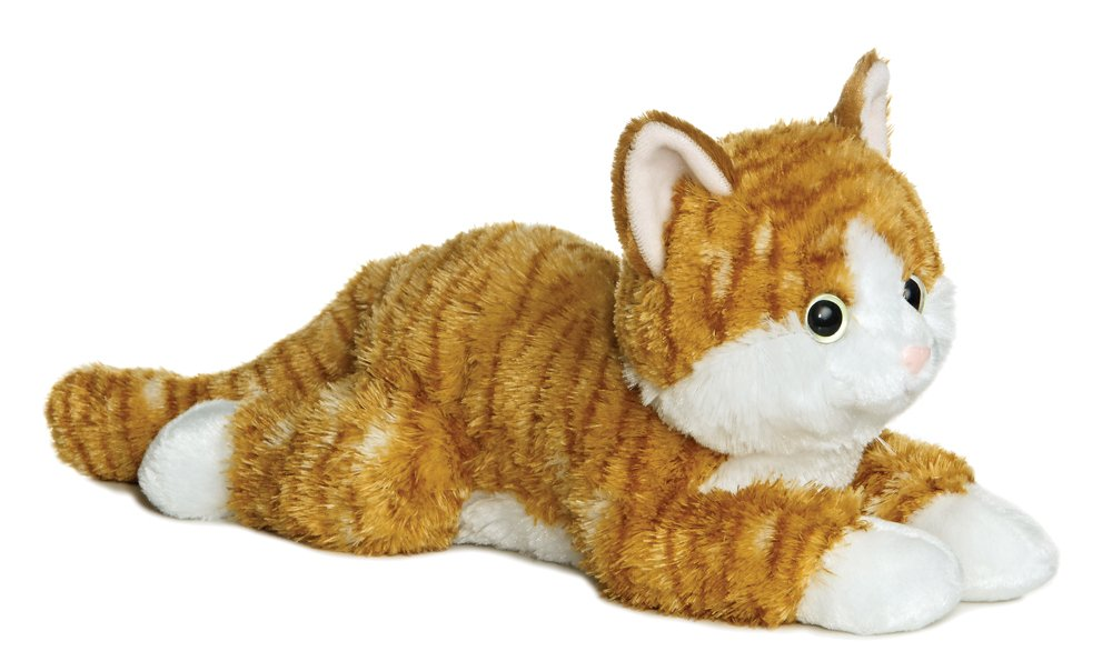 Aurora Chester Orange Tabby Cat 12-Inch Flopsie Stuffed Animal 31456