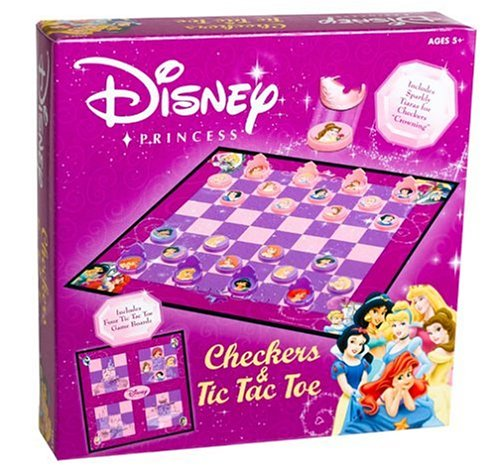 Click for larger image of Disney Princess Checkers and Tic-Tac-Toe Combo by USAopoly