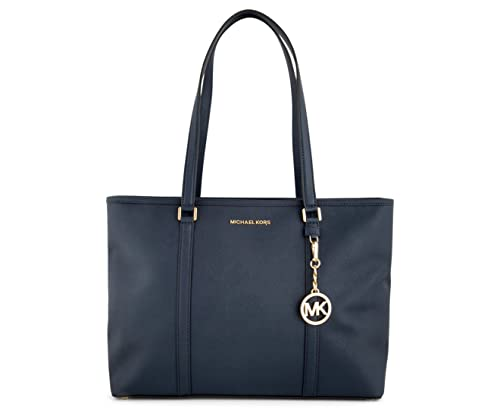2085afd59737 Michael Kors Leather Sady Large Multifunction Top Zip Tote Bag  Navy35T7GD4T7L406: Amazon.co.uk: Shoes & Bags