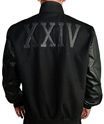 da397a75d037 Urbanoutfitters Men s Kobe Destroyer XXIV Black Fleece Jacket with Leather  Sleeves ...