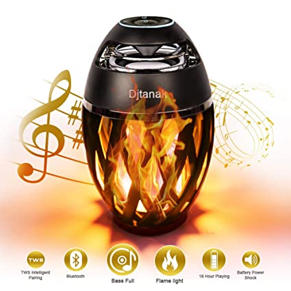 Djtanak Led Bluetooth Speaker, Flame Ambience Lantern Outdoor Speakers with  Stereo Sound, Portable Wireless Speaker, Exclusive BassUp, TWS Supported,