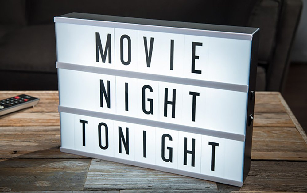 Cinema Lightbox with 109 Letters Numbers and Symbols
