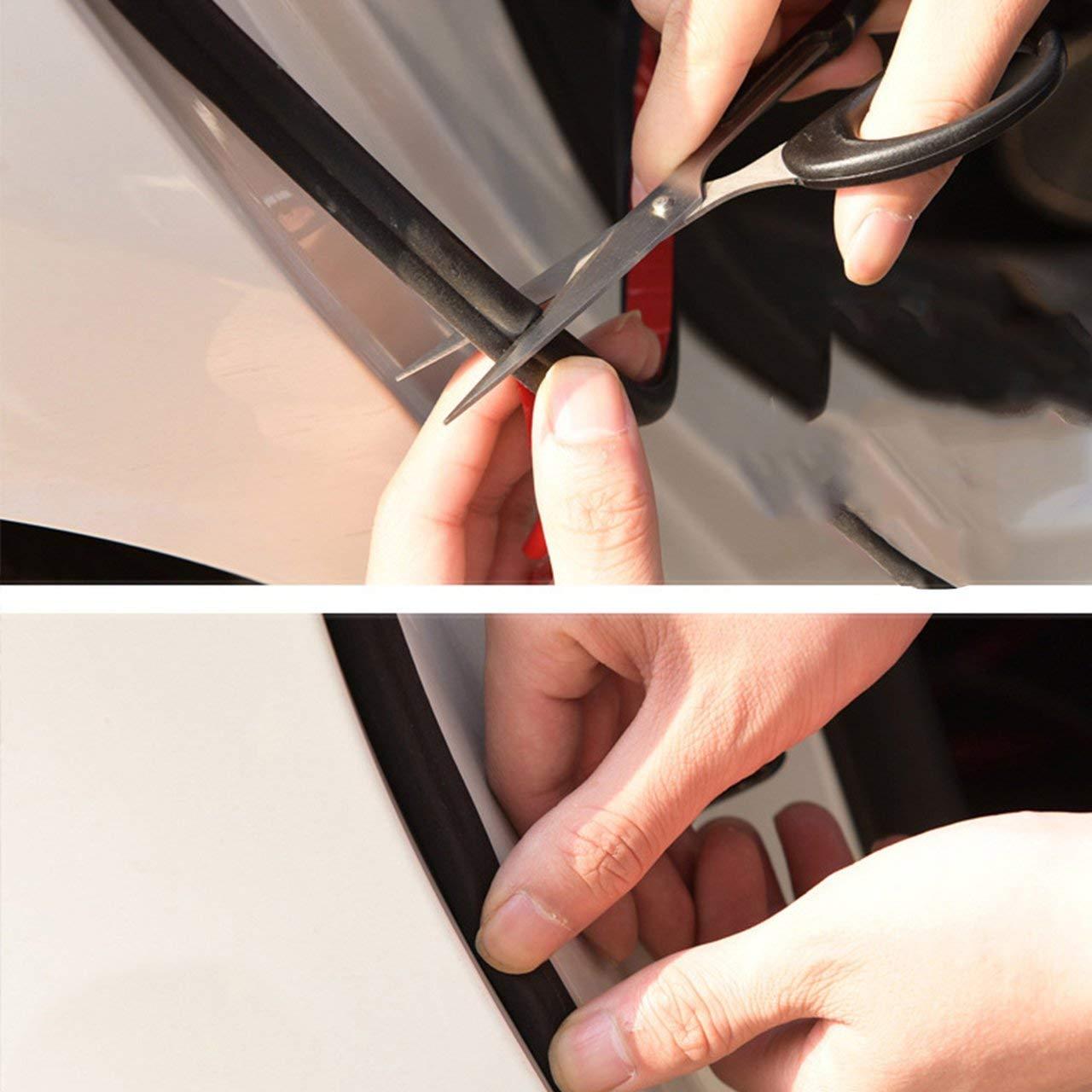 schwarz Jasnyfall 5 m Gummidichtungsband selbstklebend T/ürdichtung Dichtungsband Gummi Auto Geh/örschutz in B-Form