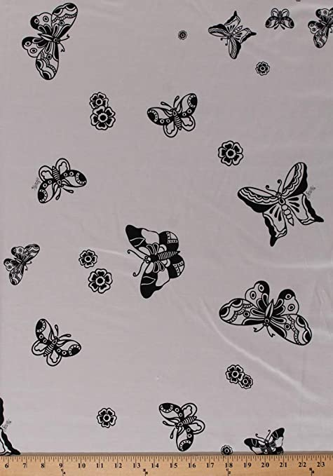 NEW*Smooth Chiffon Pink *Butterflies*Floral Print Dress//Crafts Fabric *FREE P/&P*