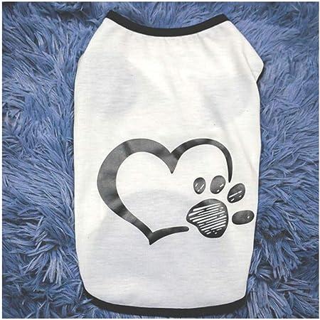 Hibeilinq Camisa de la capa del perro del gato ropa de perro Perros Pequeños pies del