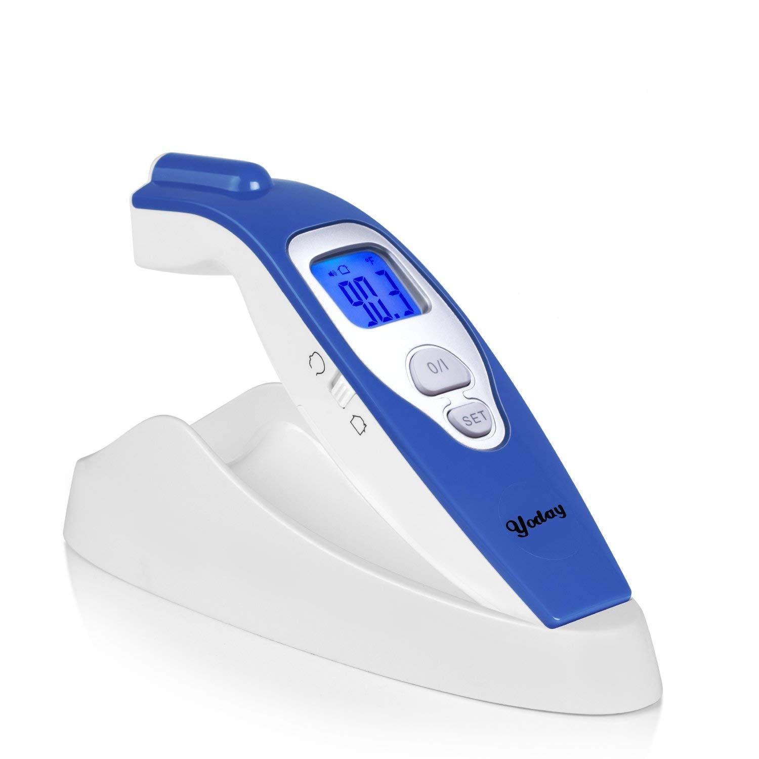 Forehead Digital Thermometer - Non Contact Infrared Medical Clinical Forehead Thermometer for Fever Measurement for Baby/Children/Adults ,Surface & Room Measurement,No Touch Instant Reading (blue)