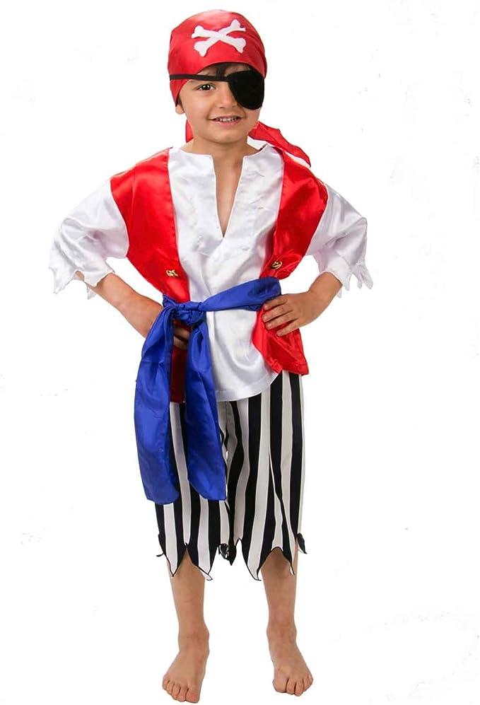 Lucy Locket - Disfraz de pirata para niño (3-4 años): Amazon.es ...