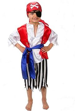 Lucy Locket - Disfraz de Pirata niño - 3-6 años (3 años): Amazon.es: Juguetes y juegos