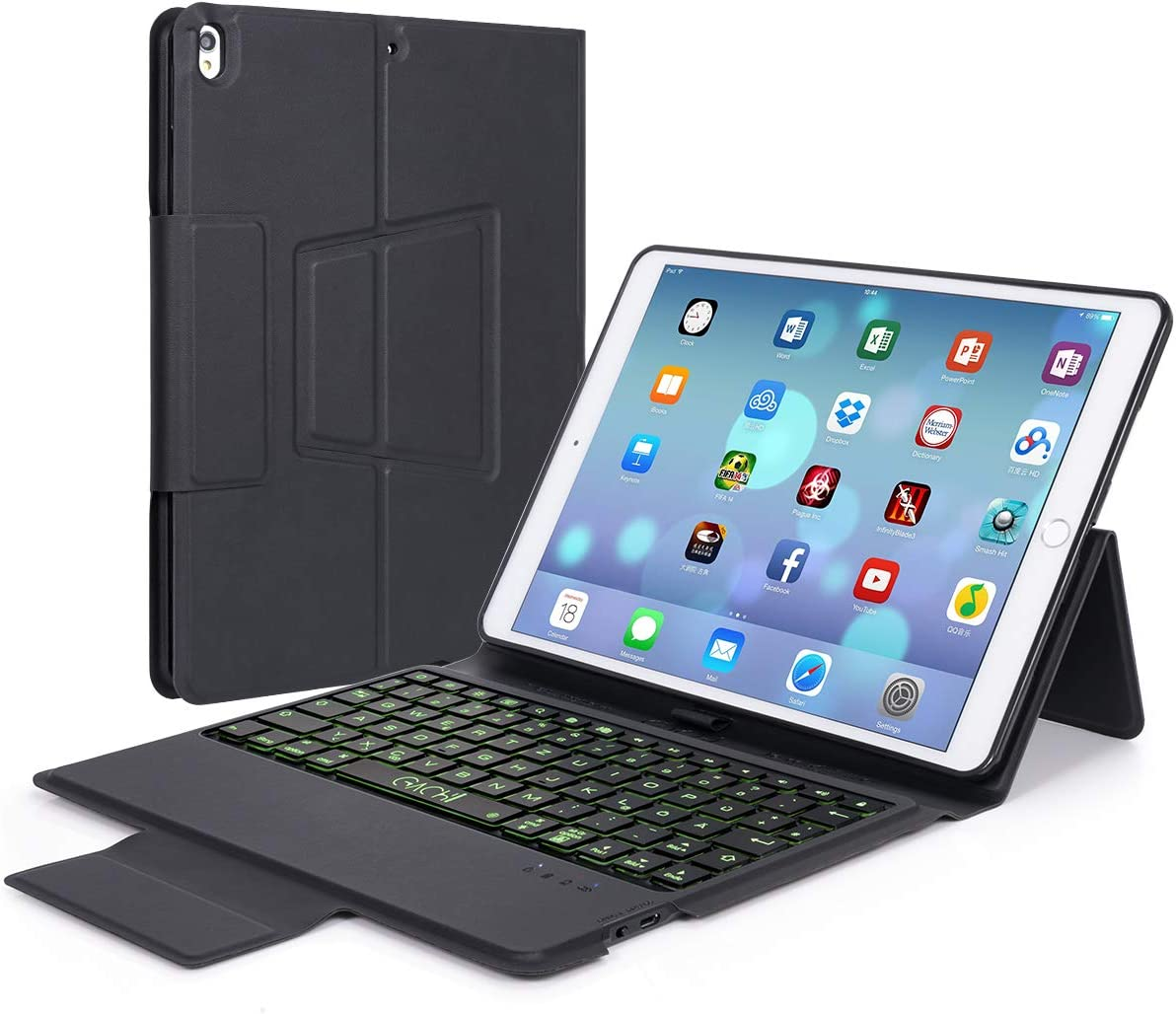 "iPad Keyboard Case 9.7 for iPad Pro 9.7"" 2018 (6th Gen) /2017 (5th Gen), iPad Air 2/Air 1, iPad 6th Generation Cases with Keyboard,Wireless Keyboard for iPad Cases with Pencil Holder"