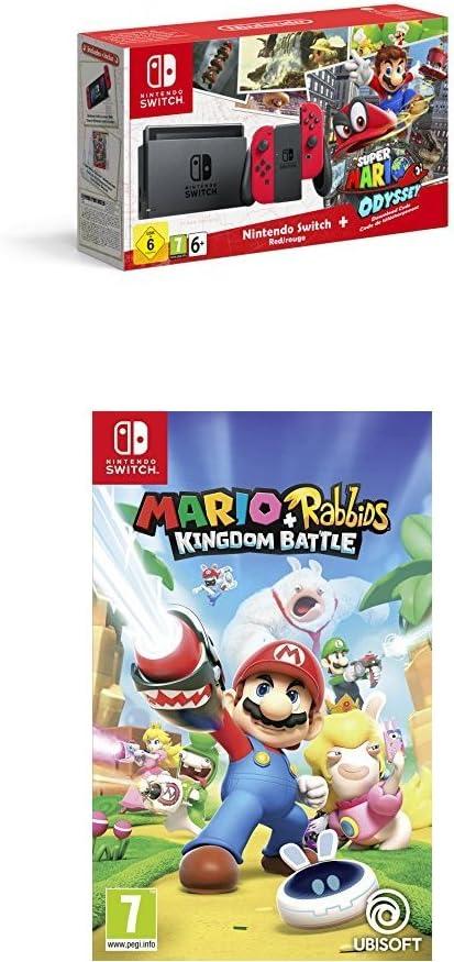 Nintendo Switch - Consola + Super Mario Odyssey Bundle (Código Descarga) + Splatoon 2: Amazon.es: Videojuegos