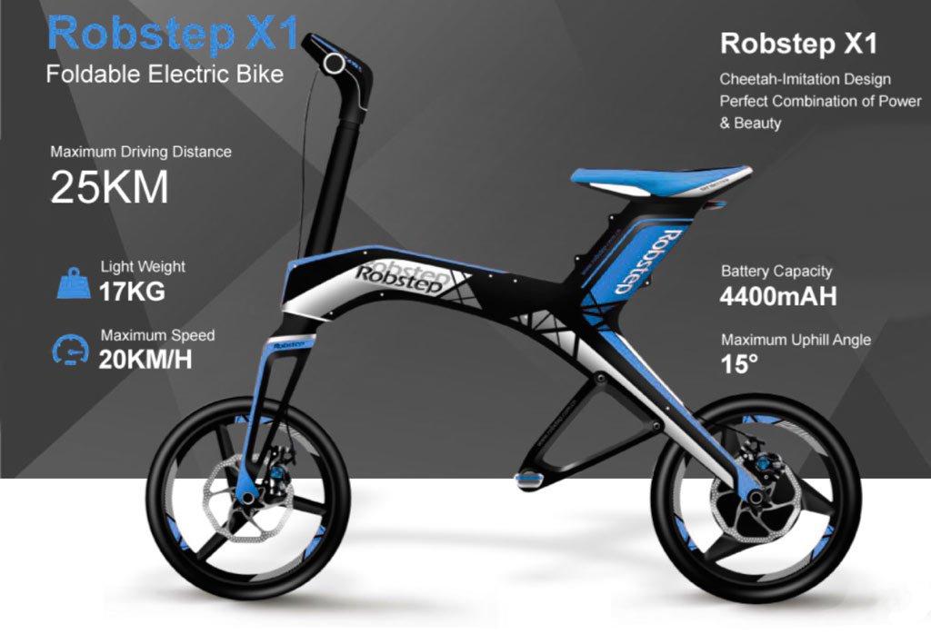 Robstep X1 - Bicicleta moto scooter eléctrica plegable. Calidad PREMIUM (verde): Amazon.es: Deportes y aire libre