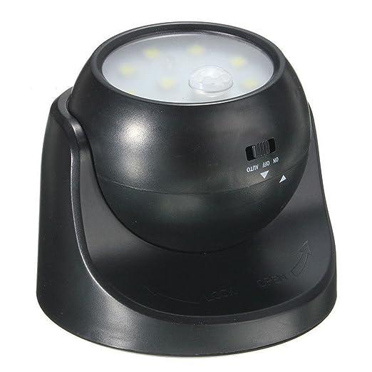 kingnew 360 ° Sensor de movimiento Noche Lámpara de luz, 9 LED de movimiento activado