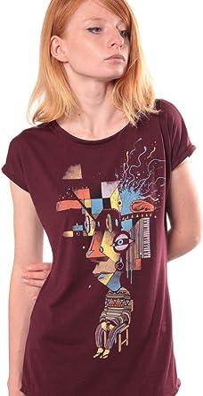 Camiseta Estampada Abstract - Ropa Urbana de Chica algodón 100%, serigrafía Original de Plazmalab: Amazon.es: Ropa y accesorios