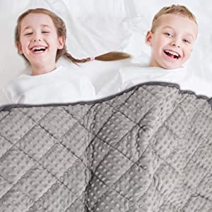 MAXTID Weighted Blanket for Kids 10 lbs 41x60 Double Heavy Blanket Gift for Children