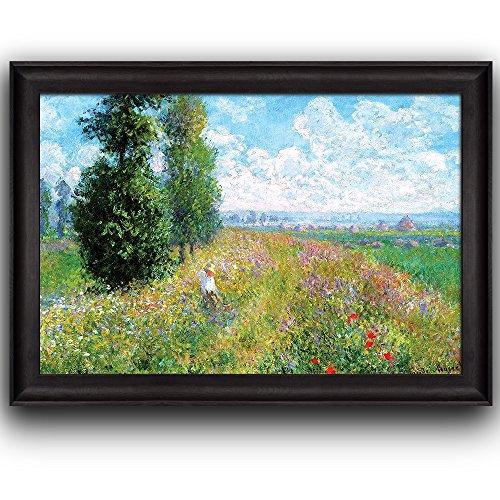 Meadow with Poplars by Claude Monet Framed Art