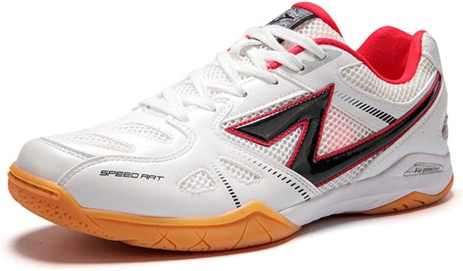 XFQ Zapatos Tenis De Mesa, Zapatos Ping Pong De Formación Profesional De Peso Ligero De Interior Zapatillas De Deporte De Alta Elasticidad Antideslizantes De Los Zapatos De Bádminton,Rojo,40EU: Amazon.es: Hogar