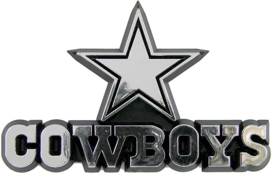 Caseys Distributing Dallas Cowboys Silver Auto Emblem