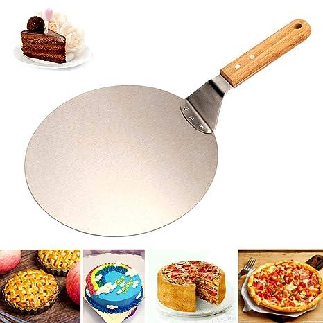 Amazon.com: Pala redonda de pizza – Pala de pizza de acero ...