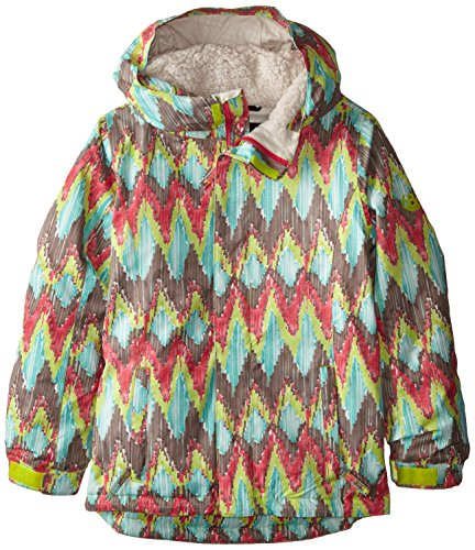 686 Girl's Flora Insulated Jacket, X-Small, Lime Ikat by 686