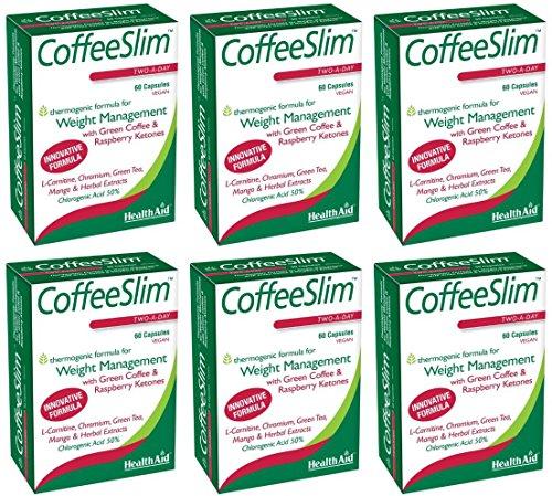 (6 PACK) - HealthAid - Coffeeslim | 60 Vegicaps | 6 PACK BUNDLE by Health Aid (Image #2)