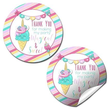 Amazon.com: Unicornio cono de helado fiesta de cumpleaños ...