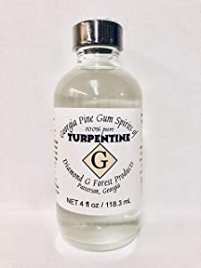 4 Oz 100% Pure Gum Spirits of Turpentine