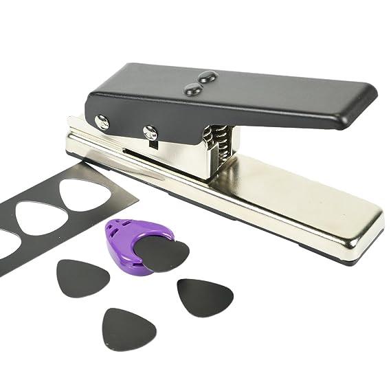 Starlite - Perforadora de púa de guitarra DIY Forma de la grapadora Premium Púa De Guitarra Eléctrica, púa de guitarra eléctrica cortador de tarjetas de la ...
