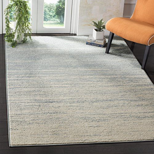 Safavieh Adirondack Collection ADR113T Slate and Cream Modern Abstract Area Rug (5'1