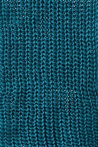 Basico Women Warm Circle Ring Infinity Scarf Neck Warmer Various Colors (Waffle Dark Teal)