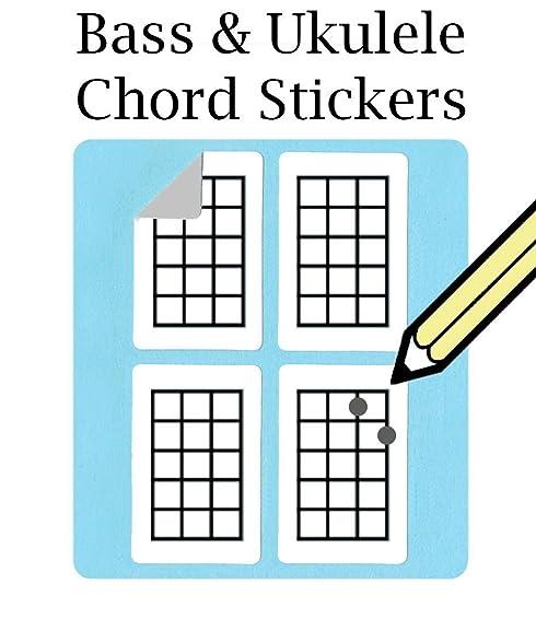Amazon Bass Ukulele Chord And Tablature Fingering Stickers