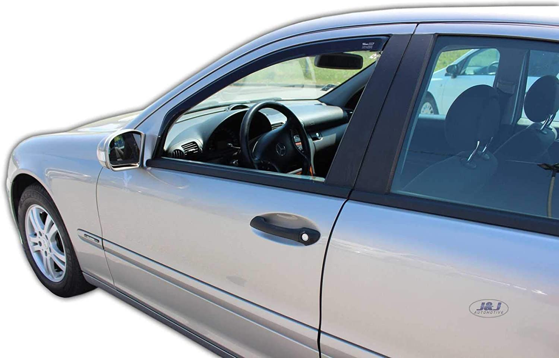 J/&J AUTOMOTIVE Deflecteurs dair D/éflecteurs de Vent Compatible avec Mercedes C Classe W203 4//5 P 2000-07 2pcs
