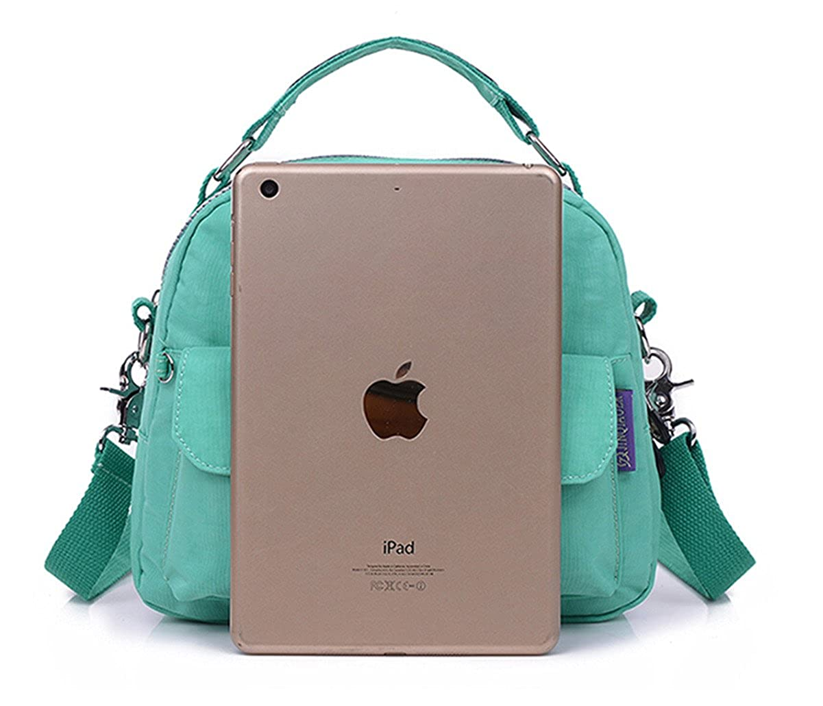 592c38a53c55 Tiny Chou Candy Color Water Resistant Nylon Cell Phone Pouch Bag Dual  Layers Crossbody Handbag Backpack  Amazon.co.uk  Shoes   Bags