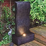 Kingfisher WF902 Ripple Wall Water Feature with LED Up Light - Black