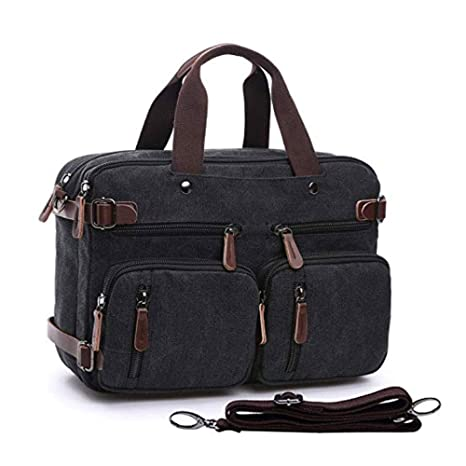 ZYSY 3-in-1 Canvas Messenger Backpack Laptop