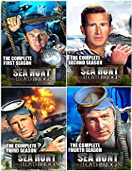 Sea Hunt: The Complete Series Collector's Edition (Seasons 1, 2, 3 & 4) - 20 DVD SetThis 20 disc collection contains all four complete seasons of the classic television show Sea Hunt comprised of 155 full-length episodes.This action-packe...