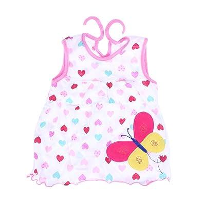 Vestido de princesa sin mangas de algodón para niñas Vestido ...