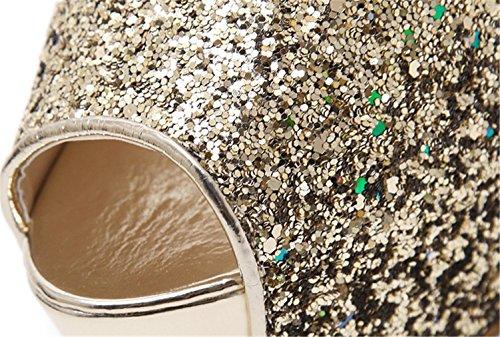 Piikkikorko Laadukas Yu Seuran Naisten Kenkiä 38 Sandaalit Kiiltävät Kangas Kristalli Kulta Mekko Selin Muoti Kengät Keväällä Lh FfCnwzaxa